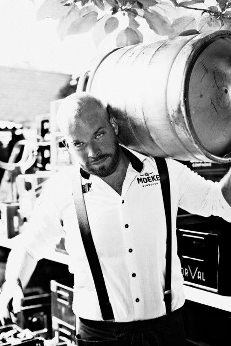zwart wit zakelijk portret Breda Super Rebel horeca Ginneken cafe restaurant