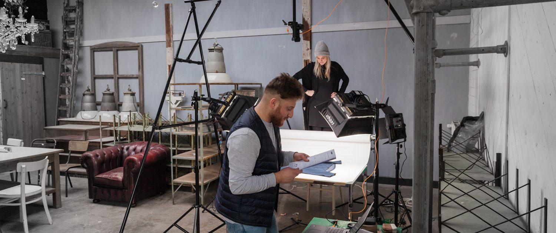 consulting webshop fotografie voor het inrichten van een eigen studio en training met de apparatuur