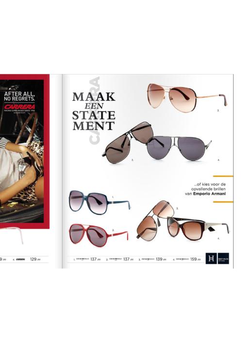 zonnebril montuur productfotografie studio SuperRebel brochure drukwerk mode packshots